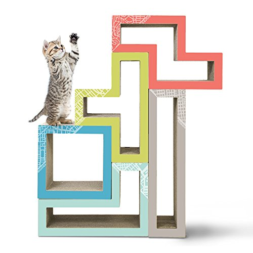 KATRIS Modular Cat Tree - 5 Blocks with Different Styles