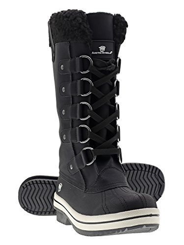 Arctic Shield 保暖舒適防水雪鞋 女雪靴(6 US Women's, Black)