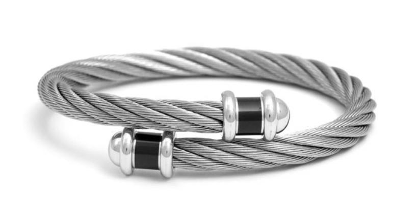 CHARRIOL 夏利豪經典立體鋼索手環