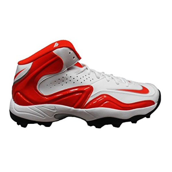 Nike Zoom Merciless Pro Shark Turf Cleats (15, White/Orange Flash)
