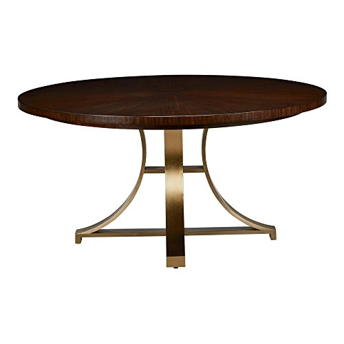 Ethan Allen Evansview Round Dining Table, Hickory