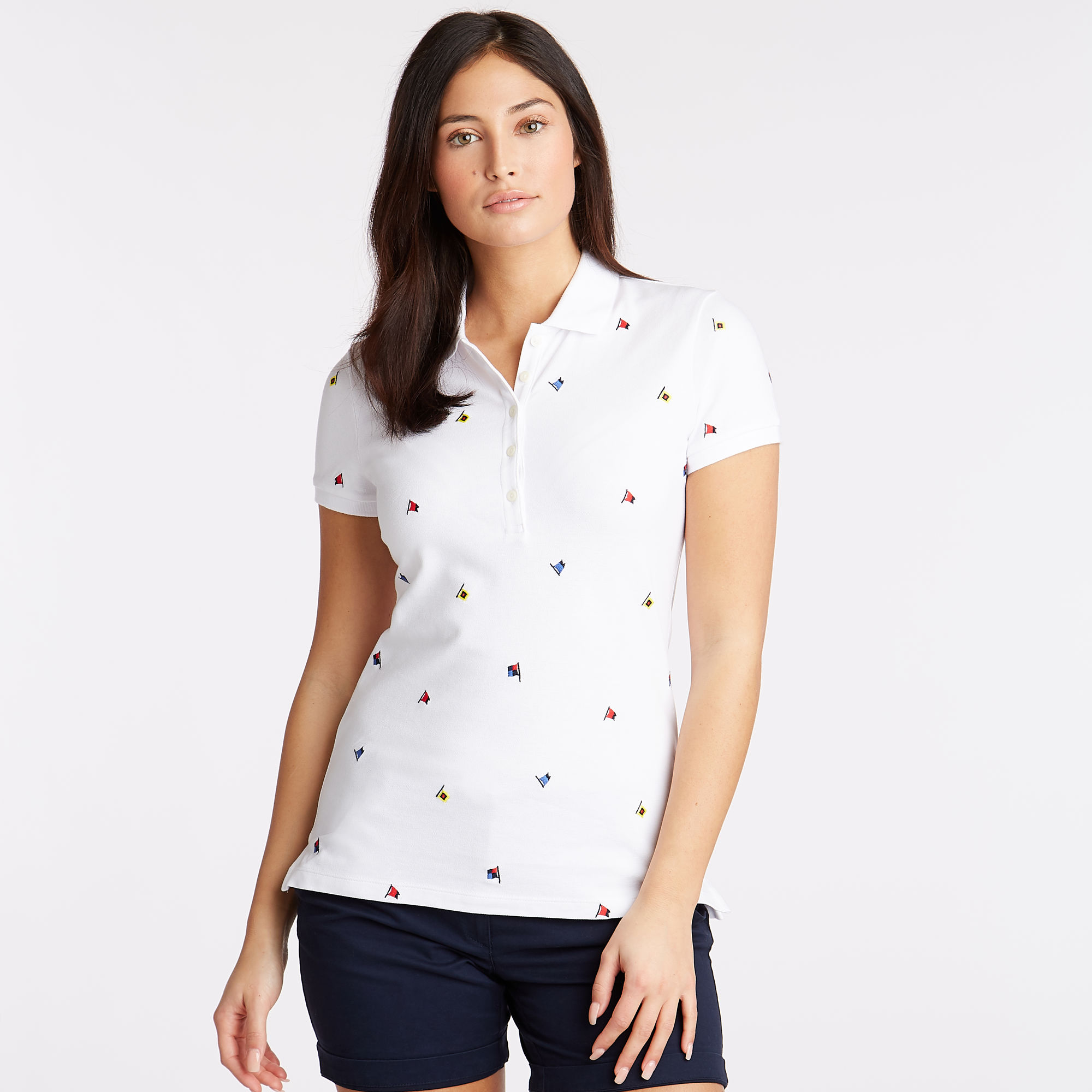 EMBROIDERED FLAG MOTIF POLO
