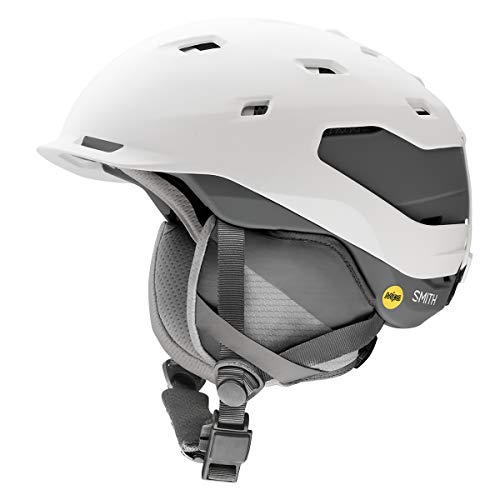 Smith Optics Quantum Adult Mips Ski Snowmobile Helmet - Matte White Charcoal/Small