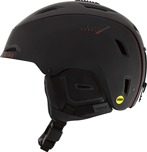 Giro Range MIPS Snow Helmet Matte Black / Bright Red Medium
